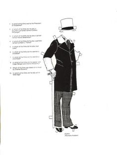 W C Fields paper doll clothes