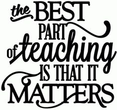 Silhouette Design Store - View Design #47431: best part of teaching it matters - vinyl phrase