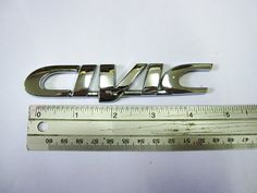 Chrome Civic Logo Emblem Sign Decal Honda Car Part Fits - http://www.carhits.com/chrome-civic-logo-emblem-sign-decal-honda-car-part-fits/ - CarHits