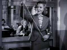 Jean Arthur demonstrating a rope trick in Capra's Mr Deeds Goes To Town