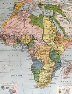 1904.ÁFRICA.Mapa de África - Lámina a color.  31 cm. x 24 cm. de tramuntanaoldprints en Etsy https://www.etsy.com/es/listing/520039096/1904africamapa-de-africa-lamina-a-color