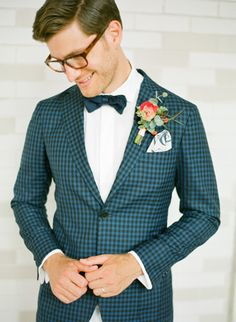 a little gingham and some fierce opticals are always in style photo by KT Merry Photography
