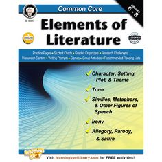Centered around Common Core State Standards, Common Core: Elements of Literature is designed to help students understand such complex elements of literature as irony and symbolism. Practice pages, stu
