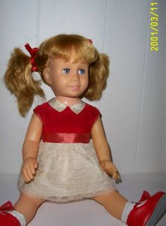 chatty cathycathy doll christmas mid 60s loved doll red hair freckles