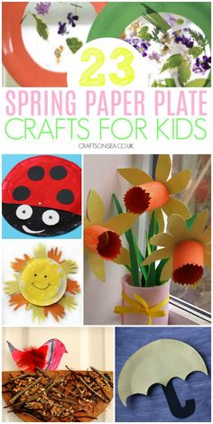 spring paper plate crafts for kids #kidscrafts #springcrafts