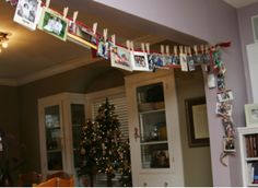 How do you display your holiday cards? #mvmoms