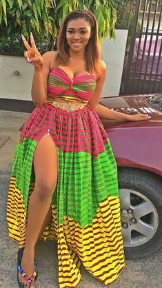Look Stunning, Slinky & Hot With The Latest Kente Styles African Inspired Fashion, African Men Fashion, African Dresses For Women, African Print Dresses, Curvy Women Fashion, African Attire, African Wear, African Fashion Dresses, Fashion Tips For Women