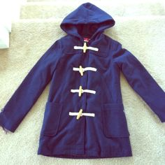 "NWT Tommy girl jacket sz xs Brand new navy jacket by tommy girl ! Adorable loop closure with snaps on the inside. Plaid lining. Great for looking stylish in chilly weather :) armpit to bottom is 20.5 "" and sleeve length is 19"" Tommy Hilfiger Jackets & Coats"