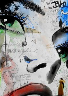 "Saatchi Art Artist Loui Jover; Drawing, ""changes"" #art"