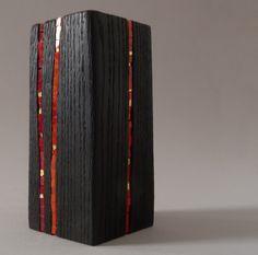 Bloc Wooden Stump Red Art