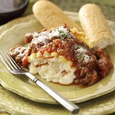 Pepperoni Pizza Lasagna Roll-ups from Taste of Home -- shared by Jamie Miller of Maple Grove, Minnesota