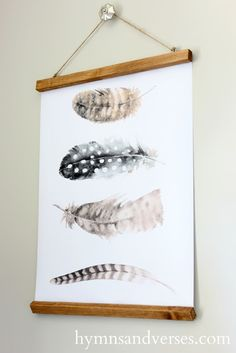 DIY Wall Charts with Free Feather Printables