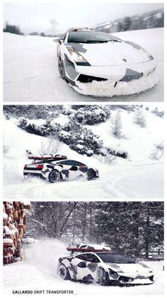 Lambo's LOVE Snow! Jon Olsson drives his Lamborghini Gallardo in the snow. INSANE action this way... #supercars #video #spon