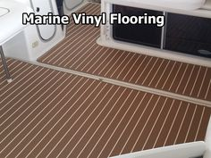 Marine vinyl flooring is a great choice in situations where there will be water, oil, and mold and mildew. #flooringtips