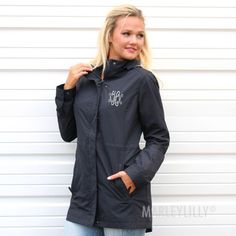 Monogrammed Hamptons Rain Jacket