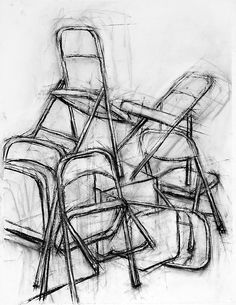 25 Chair Pencil Drawing Ideas - New Ap Drawing, Chair Drawing, Object Drawing, Still Life Drawing, Drawing Lessons, Art Lessons, Contour Drawing, Drawing Board, Drawing Techniques