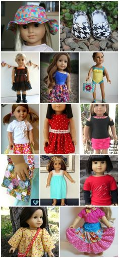 10 free American Girl sewing patterns. | Doll Clothes | Pinterest ...