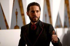 Pin for Later: Die besten Fotos der Oscars sind entstanden, wenn die Stars mal nicht gezwungen posieren Jared Leto