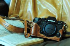 Etui en cuir de vache pour Fujifilm X-T1 / XT1 xt1 x-t1 include cuir complet boîtier et bracelet en cuir