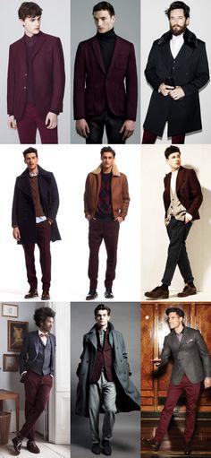 Men's Burgundy Suit Separates Lookbook