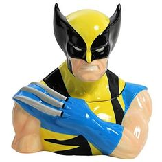 Wolverine cookie jar! This mutant will store all of your cookies and lop the hands off anyone who tries to take them without asking permission.