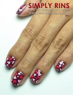 Hearts Nail Art #Nails www.finditforweddings.com