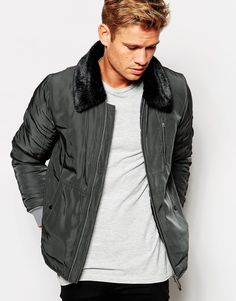 "Jacket by Native Youth Padded wool-blend outer Smooth finish Faux-fur collar Zip front fastening Functional pockets Ribbed cuffs Regular fit - true to size Dry clean 60% Wool, 29% Polyester, 4% Viscose, 4% Polyamide, 3% Acrylic Our model wears a size Medium and is 183cm/6'0"" tall"