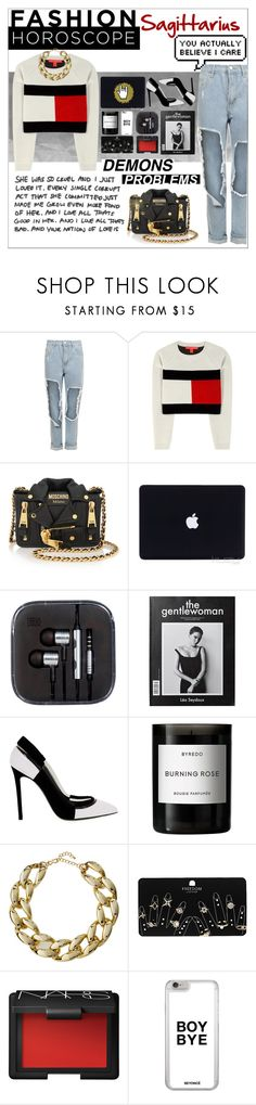 """""""Sagittarius is how we do it~"""" by acidangel ❤ liked on Polyvore featuring WearAll, Tommy Hilfiger, Moschino, Greymer, Byredo, Kenneth Jay Lane, Topshop and NARS Cosmetics"""