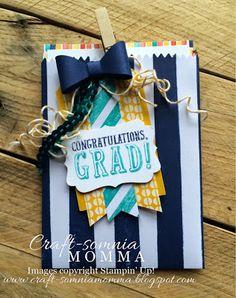 Thursday, May 14, 2015  Craft-somnia Momma:  BYOP. Birthday Bash DSP, Mini Treat Bag Thinlits, Bow Builder Punch