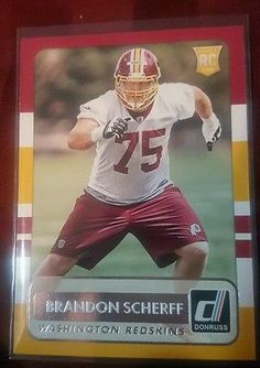 2015 Donruss Football  Brandon Scherff  #197  Washington Redskins Rookie