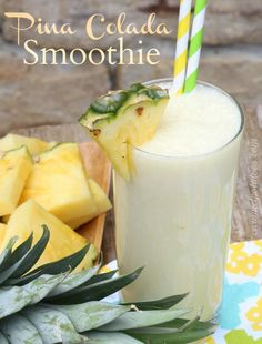 Pina Colada Smoothie 1/2 cup vanilla low-fat vanilla yogurt  1/2 cup unsweetened coconut milk  1/2 cup fresh pineapple chunks  1/2 banana  1 tablespoon honey  1 cup ice  Place in blender in order listed.  Blend until smooth.  Enjoy!