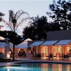The Gaborone Sun, located in Botswana, allows you to relax in luxury. The beautiful rooms offer a serene escape from the bustling entertainment center.