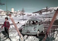 Fiat 600 al Sestriere -1956