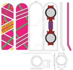 Currently Redoing the specs for the BTTF (Back to the Future) Mattel Hoverboard. Done in that classic Barbie Pink, my boss plans on doing a set or two for his DeLorean. Here is my version of the bo...
