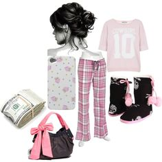 cute for a pajama party :)  created by jaz6i05 on Polyvore