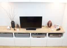 ikea hack kitchen cabinets set on the floor added a top and wow glam media storage ikea. Black Bedroom Furniture Sets. Home Design Ideas