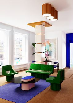 A new interior architecture is emerging, that will move boundaries between objec – Furniture Geometric Furniture, Design Furniture, Colorful Furniture, Modern Furniture, Best Interior, Modern Interior Design, Interior Styling, Interior Architecture, Contemporary Design