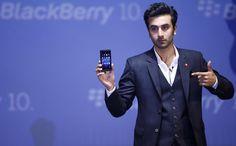 Ranbir Kapoor at the Mumbai launch for the new Blackberry Z10 smartphone, February 2013