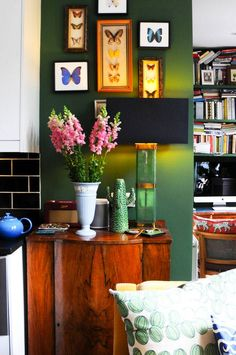 Explore the London flat belonging to British Interior Designer Luke Edward Hall. Explore more pictures of houses, beautiful homes and house tours on Domino.