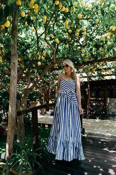 J.Crew Stripe Ruffle Maxi Dress Sheer Maxi Dress, Striped Maxi Dresses, Maxi Dress With Sleeves, Summer Work Dresses, Short Beach Dresses, Maxi Robes, Looks Style, Fashion Outfits, Emo Fashion