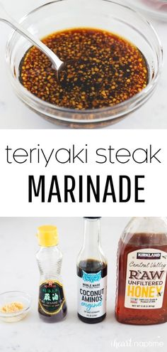 This easy teriyaki steak marinade gets penetrating flavor into every bite of meat making it tender and juicy! This simple recipe can also be used for other types of meat and seafood as well!
