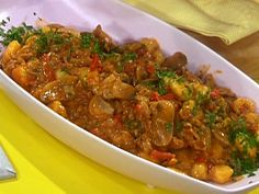 Chicken and Mushroom Goulash with Gnocchi Recipe : Rachael Ray : Food Network - FoodNetwork.com