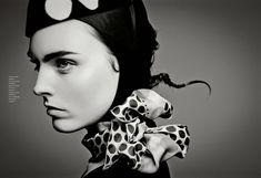 Black & White | Myf Shepherd by Jean-François Campos for Flair November 2011