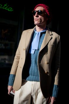 http://chicerman.com  billy-george:  Awesome colour blocking  Photo by Kuba Dabrowski  #streetstyleformen