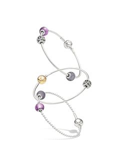 """""""It's being there, unconditionally and always. Someone you can count on."""" Friendship styled PANDORA ESSENCE COLLECTION bracelets."""