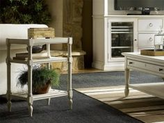 Shop the Syver French Country White Wood Rectangular Side End Table and other Side & End Tables at Kathy Kuo Home Drum Side Table, Brass Side Table, White Side Tables, Chair Side Table, Round Side Table, End Tables, A Table, Large Furniture, Living Furniture