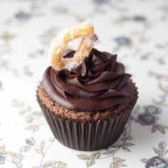 Chocolate con churros cupcakes