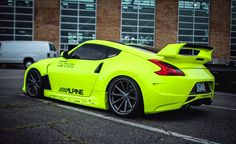 Fluorescent Yellow Neon Nissan Z