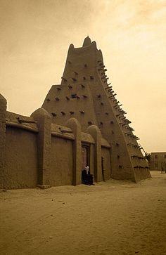 Mezquita de Tombouctou -   Timbuktu Mosque (August 2000)    www.vicentemendez.com