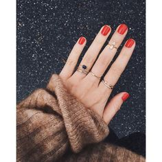 the rings and red nails